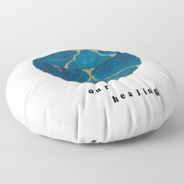 Our Scars Our Healing Kintsugi Floor Pillow