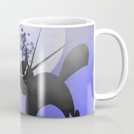 mooncats in a foggy night Coffee Mug