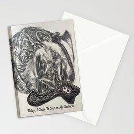 Today I Chose To Sit On My Sadness  Stationery Cards