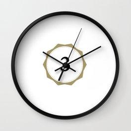 Vintage Number 3 Monogram Wall Clock