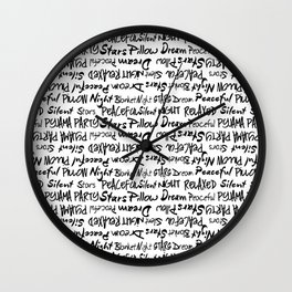 All Over Print For Sleep Lovers. Wall Clock