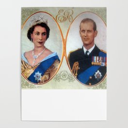 Queen Elizabeth 11 & Prince Philip in 1952 Poster