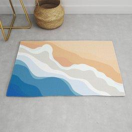 Dee Why Beach | Aerial Illustration Rug