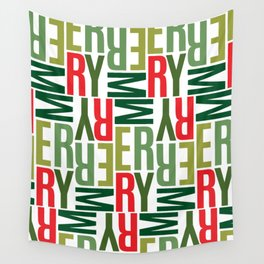 Modern Merry Wall Tapestry