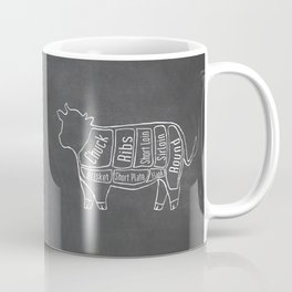 Beef Butcher Diagram (Cow Meat Chart) Coffee Mug