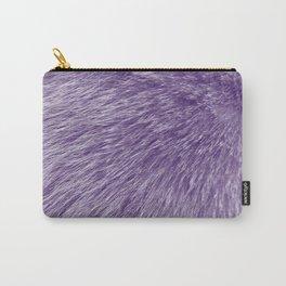 Lollipop Purple Fur Carry-All Pouch