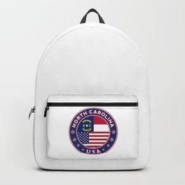 North Carolina, USA States, North Carolina t-shirt, North Carolina sticker, circle Backpack