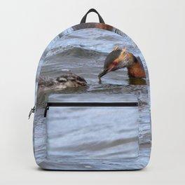 Watercolor Bird, Horned Grebe 01, Lake Myvatn, Iceland Backpack