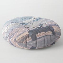 NEVER STOP EXPLORING ICELAND Floor Pillow
