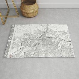 Colorado Springs Map Line Rug