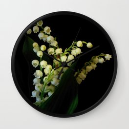 lily of the valley 3 Wall Clock