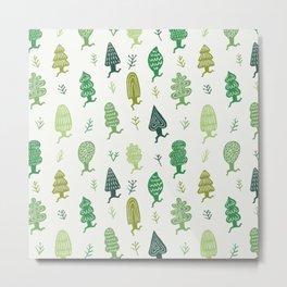 Run Forest Run Pattern Metal Print