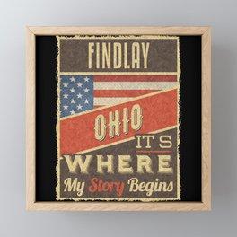 Findlay Ohio Framed Mini Art Print