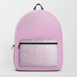 Girly blush pink lavender gradient glitter Backpack