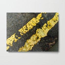 Yellow Lines Metal Print
