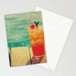 Mai Tai by the Dock - Kitschy Cocktail Print Hawaii Vintage Retro Stationery Cards