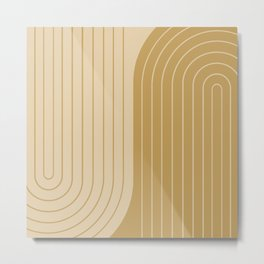 Two Tone Line Curvature XXXVIII Metal Print