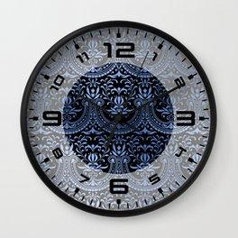 Classic Blue Swirls 15 Wall Clock