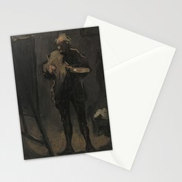 Honore Daumier - The Painter in Front of His Painting (Le Peintre devant son tableau) Stationery Cards