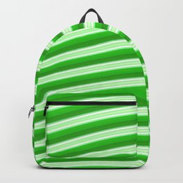 Green abstract lines Backpack