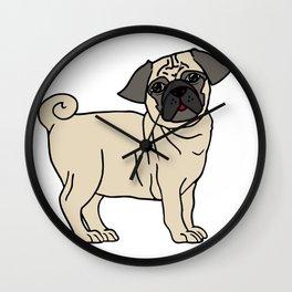 Pug-licious! Wall Clock