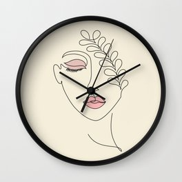 Beautiful woman line Wall Clock