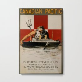 Canadian Pacific Vintage Travel Poster Metal Print