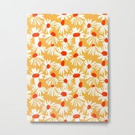 Summer Daisy: Tangerine Edition Metal Print