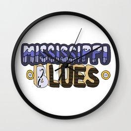 Mississippi Blues Wall Clock