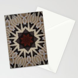 Be Still My Beating Heart // Geometric Abstract Tribal Black Beige Rustic Red Sacred Geometry Patter Stationery Cards
