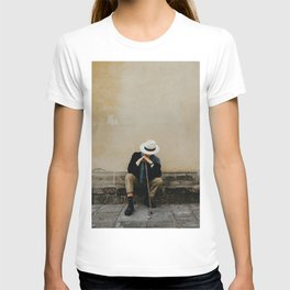 Italian man waiting in Florence | Europe travel photography | Art print | Firenze, Italy T-shirt