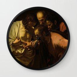 The Incredulity of Saint Thomas - Caravaggio Wall Clock