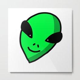 Alien Face   Veronica Nagorny Metal Print