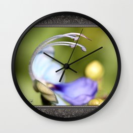 Clerodendrum Ugandense or Blue Butterfly Bush Wall Clock