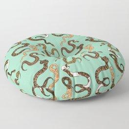 Plenty of Pythons - Pistachio Floor Pillow