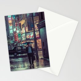 The Smiling Man // Rainy Tokyo Nights Stationery Cards