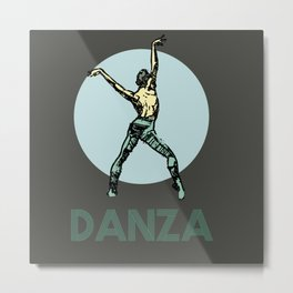 Danza Metal Print