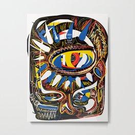 The Third Eye Primitive African Art Graffiti Metal Print