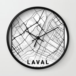 Laval Light City Map Wall Clock