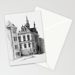 Old building on the Amstel Amsterdam Stationery Cards