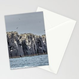 The Farne Island cliffs Stationery Cards