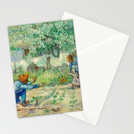 Vincent Van Gogh - First Steps, after Millet Stationery Cards