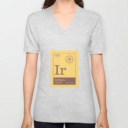 Periodic Elements - 77 Iridium (Ir) Unisex V-Neck