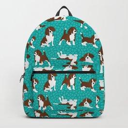 Beagle dog breed - turquoise Backpack
