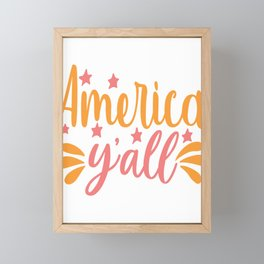 America y'all - Adventure Design Framed Mini Art Print
