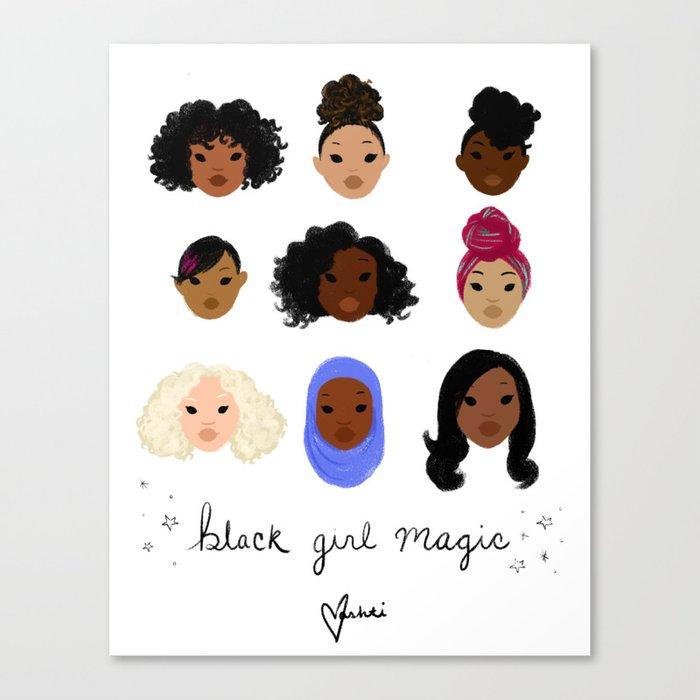 Black Girl Magic (looks) Leinwanddruck