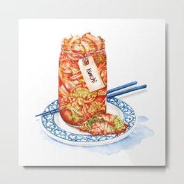 Kimchi watercolour food illustration Metal Print