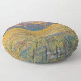 Flint Hills Abstract No.1 Floor Pillow