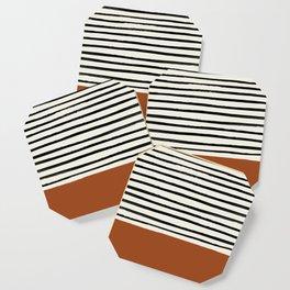 Burnt Orange x Stripes Coaster