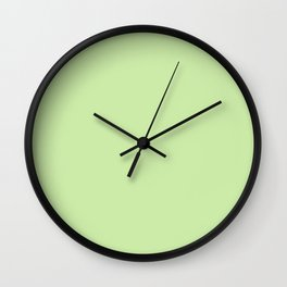 KEY LIME pastel solid color Wall Clock